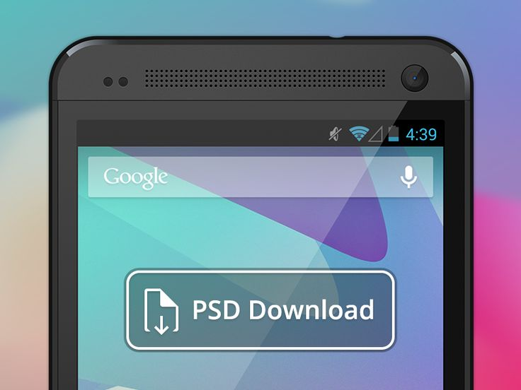 Vector HTC One PSD Download by Jeff Broderick