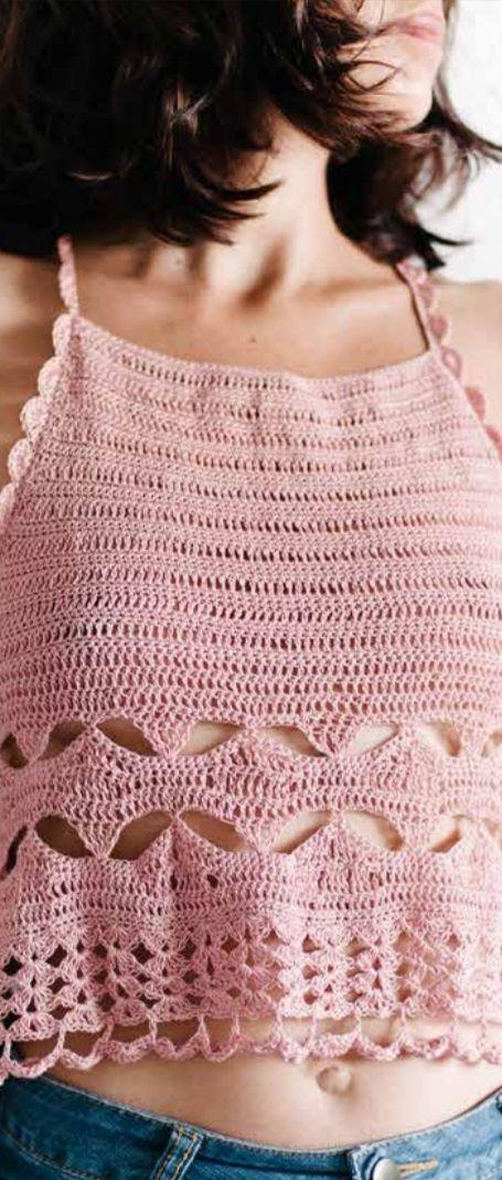 Free Crochet Pattern For A Racer Back Camisole Crochet Pinterest