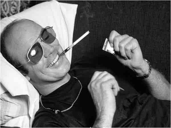 """The greatest mania of all is passion: and I am a natural slave to passion: the balance between my brain and my soul and my body is as wild and delicate as the skin of a Ming vase."" — Hunter S. Thompson, The Curse of Lono"