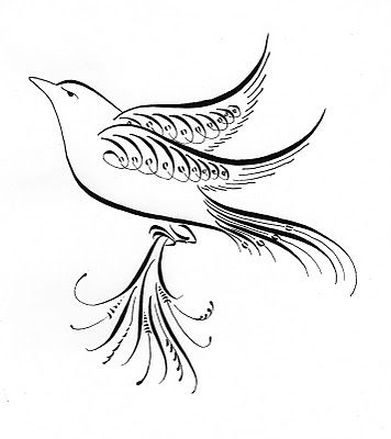 A Place To Flourish: Calligraphy Flourish Friday - Collage and Birds
