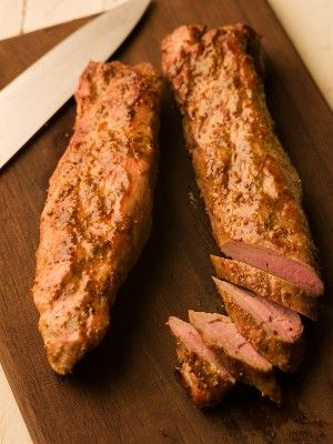 Chef Michael Smith | recipe | Orange Mustard Grilled Pork Tenderloin