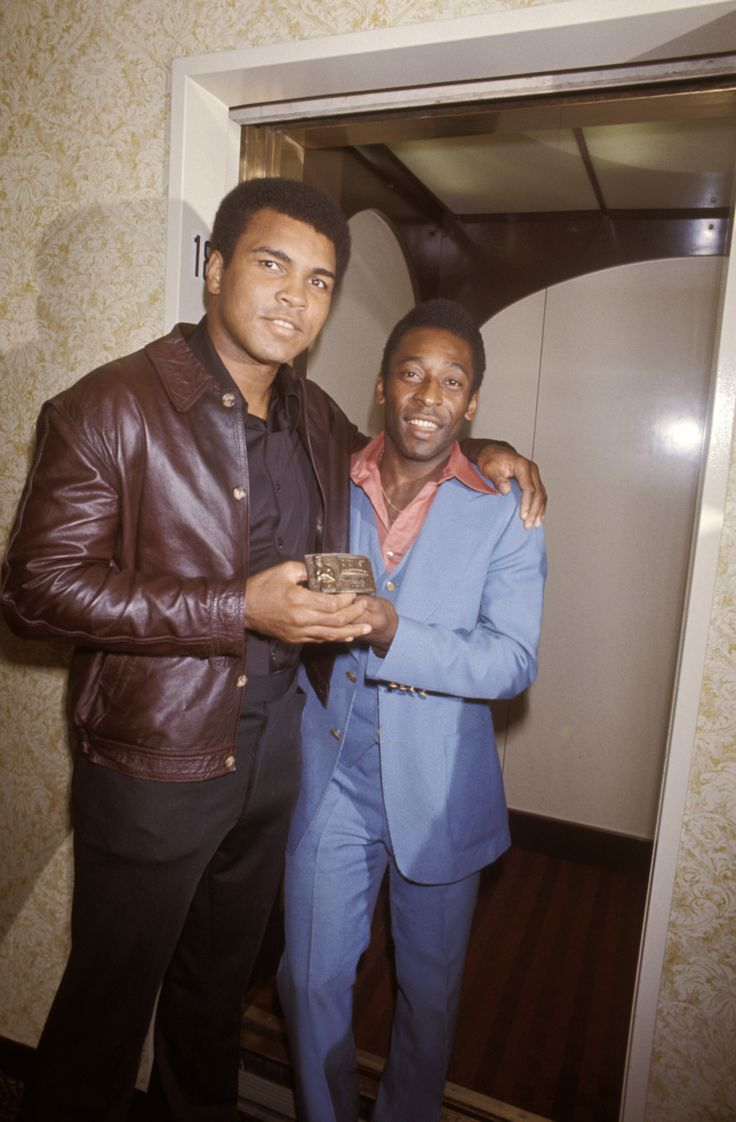 Pele & Ali - legends all over the place