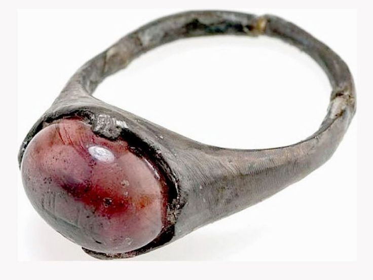 Ring Inscribed With 'For Allah' Phrase Comes From A Viking Grave Site.
