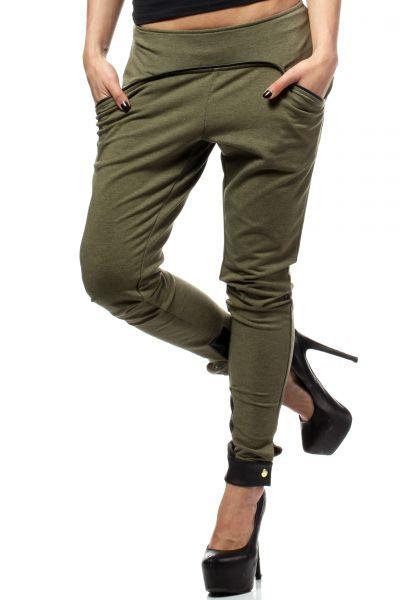 Dresowe spodnie w odcieniach khaki