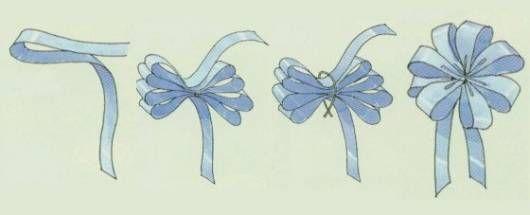 Flor de fita passo a passo