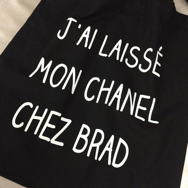 "Tote Bag ""Chez Brad"","