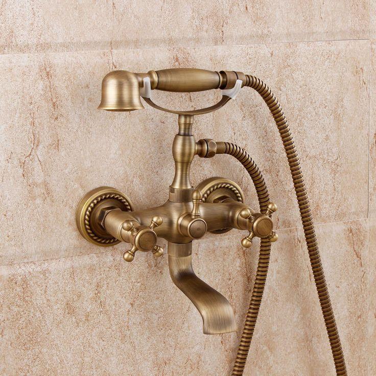 Купить товарЕвропейские антикварные ванная комната ванна кран простой комплект для ванной комнаты все меди холодной душ смесительный клапан скрытого в категории Поручни для ваннойна AliExpress.           Постоянно обновляется ........