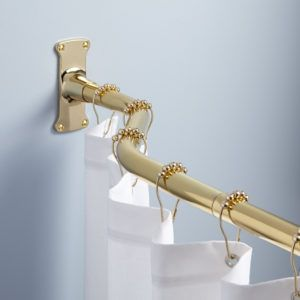 Polished Brass Adjustable Shower Curtain Rod
