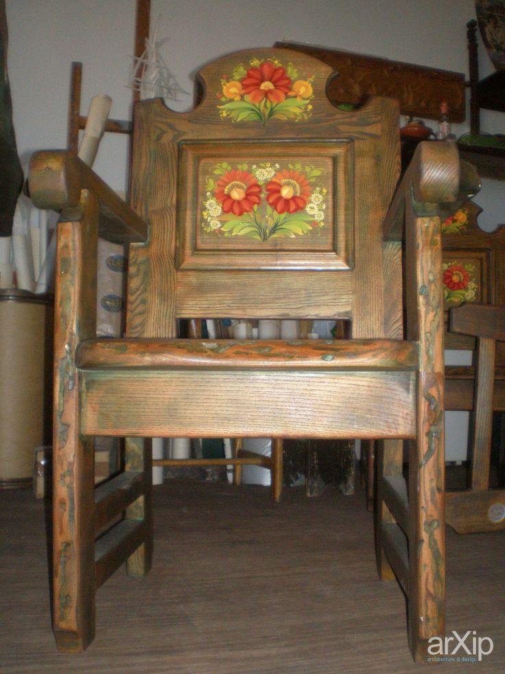 Роспись мебели: промышленный дизайн, стул, кресло, кантри #industrialdesign #chair #country arXip.com