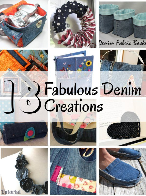 diy home sweet home: 18 Fabulous Denim Creations