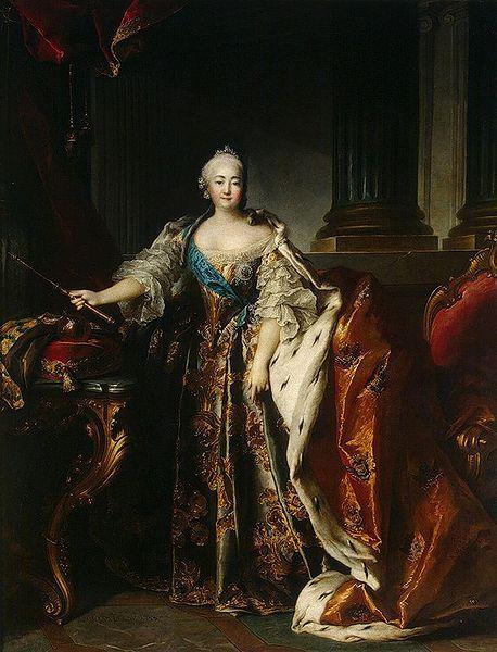 Louis Tocqué, Portrait of Empress Elizabeth of Russia, 1756