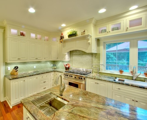 Rainforest Green Marble Countertops Dream Kitchen