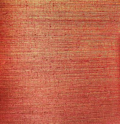 Оранжево-красные обои с текстурой циновки Ральф Лорен