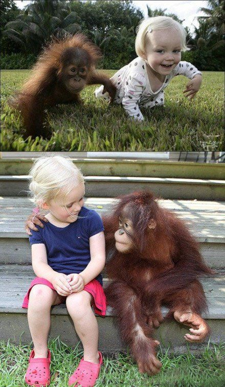 So cute; kids and animals