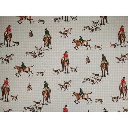 ... & Hounds Cotton Curtain Fabric F0783/01 Multi - The Millshop Online