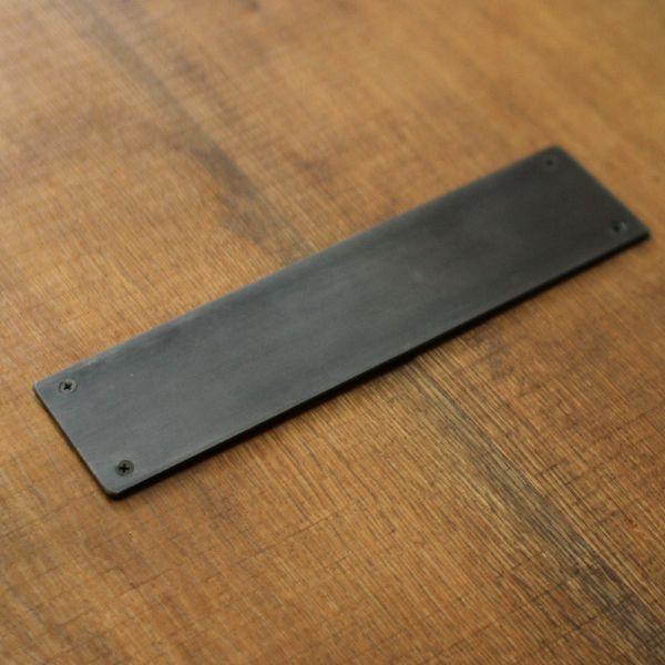 鉄黒皮押し板 ドアハンドル オリジナル家具 金物の上手工作所