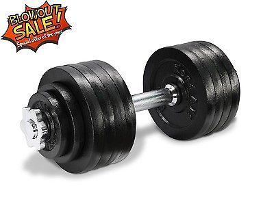 Yes4All Adjustable Dumbbell Set Weight Cap Fitness Gym - 52.5 lbs - DL2ZH4D