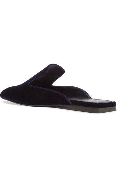 Jil Sander - Velvet Slippers - Navy - IT38.5