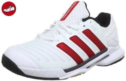 adidas adipower stabil 10.0 Synthetic V21249, Herren Hallenschuhe, Weiß (Running White Ftw / Light Scarlet / Black 1), EU 40 (UK 6.5) - Adidas schuhe (*Partner-Link)