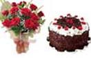 Cake with rose available for Hyderabad delivery. You get same day fresh items with us.  Order now - www.flowersgiftshyderabad.com/Newyear-Gifts-to-Hyderabad.php