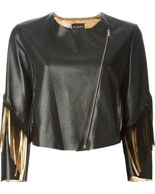 Too cool for school! LOVE THIS  BLANCHA BLANCHA fringed cropped jacket from Farfetch (US) | ShapeShop