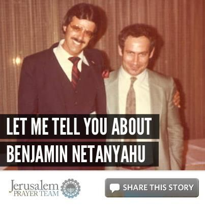 Let Me Tell You About Benjamin Netanyahu  by Dr. Mike Evans    To encourage others to defend the Jewish people, and pray for peace in Jerusalem (Psalm 122:6), LIKE and SHARE this story, and leave your PRAYERS and COMMENTS below.    To support the Jerusalem Prayer Team with a gift, go here:  http://jerusalemprayerteam.org/email/2013/0122-2-fb.htm — with Hatikva Hanna.