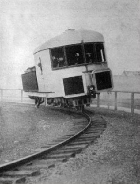Prototype for a Gyro monorail by Louis Brennan, England, 1907