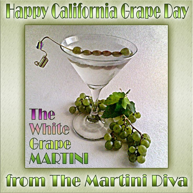 How to toast #CaliforniaGrapeDay without wine? The WHITE GRAPE MARTINI. Click image for recipe.