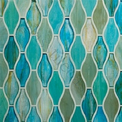 Holy cow. Beautiful. That's a lot of color, need in a smaller space or as an accent? #Aqua #Tile #Glass