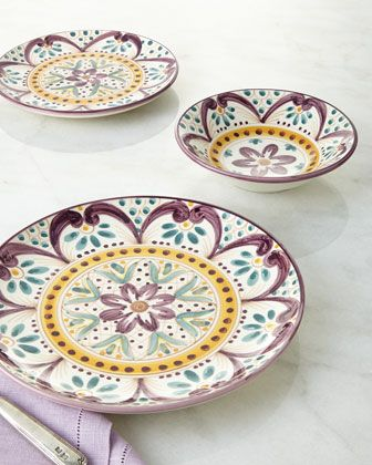 Talavera Dinnerware at Horchow.