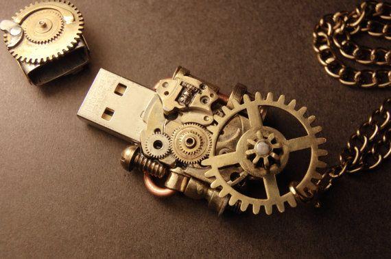 Steampunk USB Flash drive 8Gb