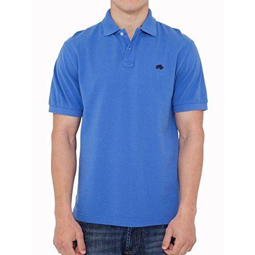(ライジング ブル) Raging Bull メンズ トップス ポロシャツ Raging Bull Big And Tall Signature Pique Polo Cobalt 並行輸入品  新品【取り寄せ商品のため、お届けまでに2週間前後かかります。】 カラー:グレー 素材:100% Cotton