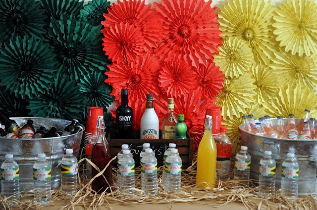 Jamaican Island Rasta Party from Bottle Pop Party Co - Fab Bar Display