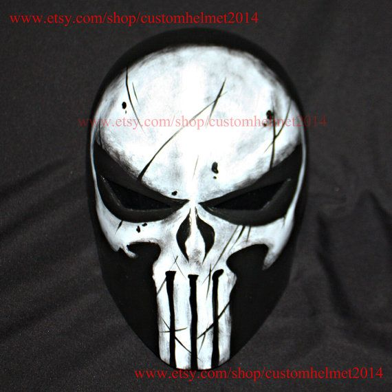 1:1 Wearable Custom Halloween Costume, The Punisher Helmet DJ Mask, Punisher Mask Cosplay Movie Prop MA191