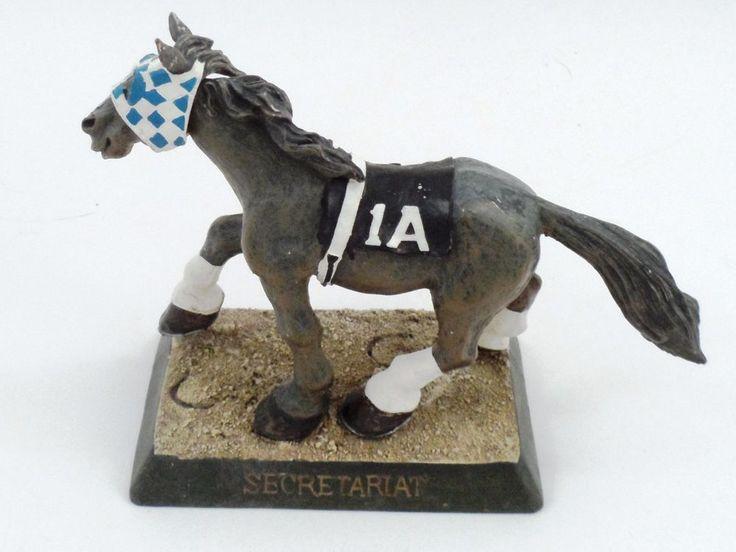 Churchill Downs Commemorative Cast Resin Running Secretariat Horse 1A Bobblehead #Unbranded