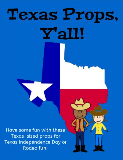 Great editable classroom materials @teachersherpa Have a little fun on Texas Independence Day or while the rodeo is going on! From cowboy boots to Bluebonnets, these Texas props are a must if you live in Texas. Y'all have fun, ya hear!