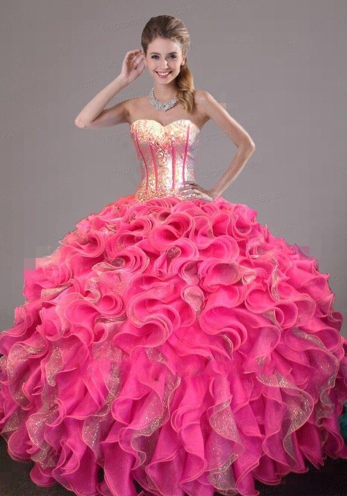Новый Розовый Формальное Пром Quinceanera Театрализованное Ballgown Цвет Свадебные Платья Отarrowder