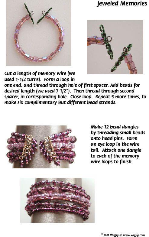 Cuentas y Memorias Jeweled hechas con alambre WigJig joyería que hace las herramientas y suministros joyería.