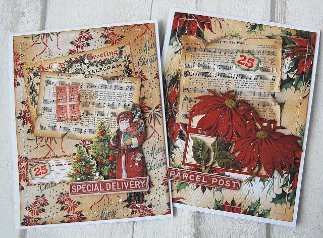 Christmas 2020 Tim Holtz Christmas Worn Wallpaper 5x8~24Pc Retired TH94088