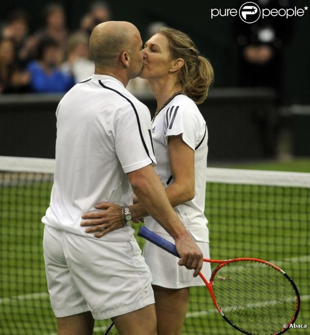 ANDRE AGASSI AND STEFFI GRAF, TENNIS CHAMPIONS Andre+Agassi+Steffi+Graf | Andre Agassi et Steffi Graf
