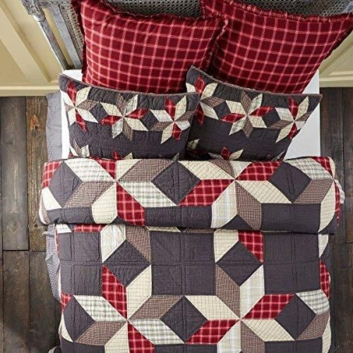 Sale Price : $134.99  Order it Here=> https://diamondhomeusa.com/products/red-black-plaid-queen-quilt-southwestern-western-tartan-madras-patchwork-lodge-cabin-rustic-theme-bedding-star-pattern-geometric-shabby-chic-rustic-checkered-lumberjack-cotton?utm_campaign=outfy_sm_1510376924_576&utm_medium=socialmedia_post&utm_source=pinterest   Red Black Plaid Queen Quilt Southwestern Western Tartan Madras Patchwork Lodge Cabin Rustic Theme Bedding Star Pattern Geometric Shabby Chic Rustic Checkered…