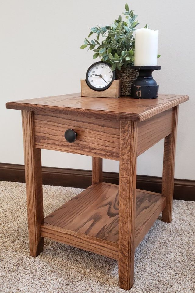 Diy 1 Drawer Side Table Simple And Beautiful Side Table With