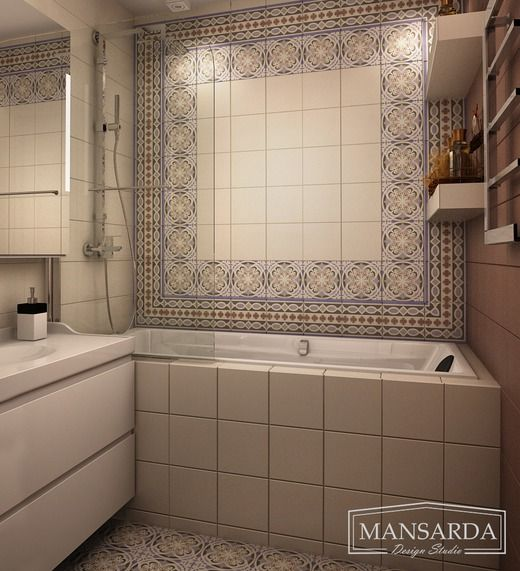 Дизайн-проект двухкомнатной квартиры в скандинавском стиле. Ванная