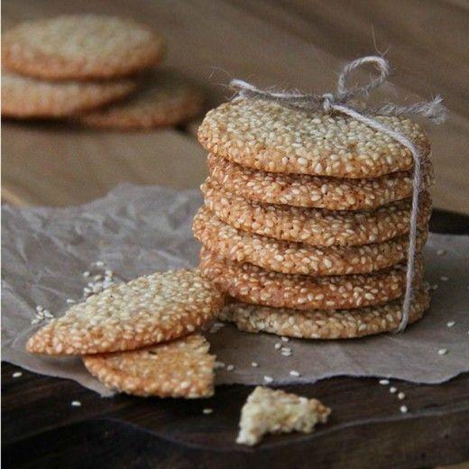 Рецепт - Кунжутное печенье