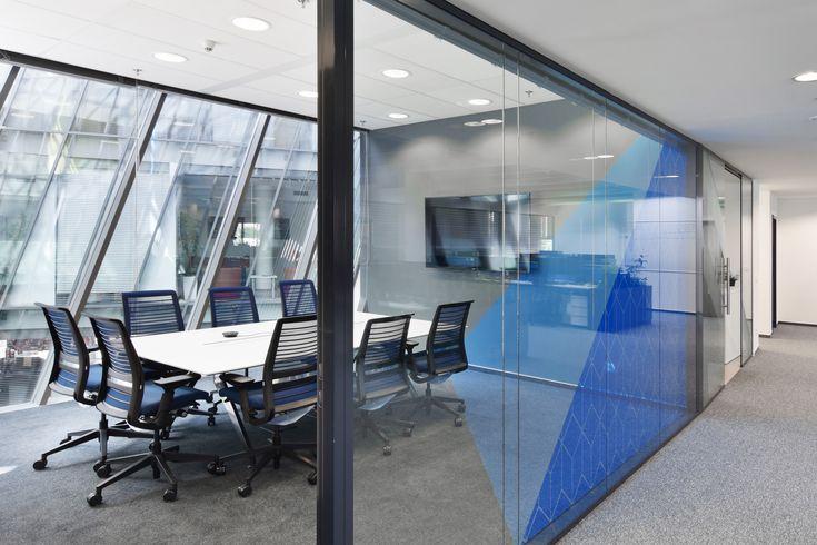 Techona office   monom - interior, blue meeting room