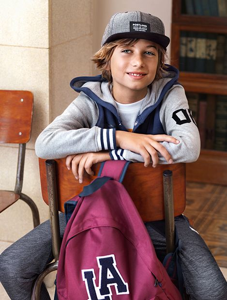 Always be prepared with a cozy hoodie and sporty baseball cap. | H&M Kids