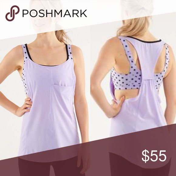 Lululemon💕High Noon Lilac Run for your Money Tank EUC no flaws just normal wear --no flaws.                                                                   Size 6. Pattern is High Noon Lilac and style of tank is Run: for your Money Tank. Bra with adjustable straps and slots for padding.                                                            🚫trades//pls send an offer on bundles for a discount✅✅ lululemon athletica Tops Tank Tops