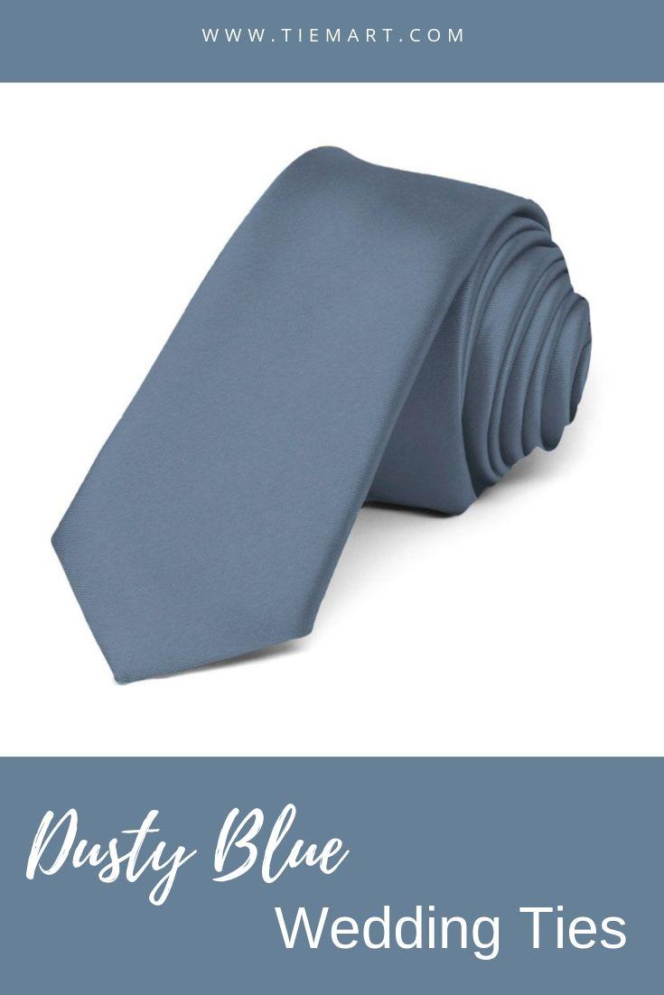 4da0788ee24 Dusty Blue Premium Skinny Necktie