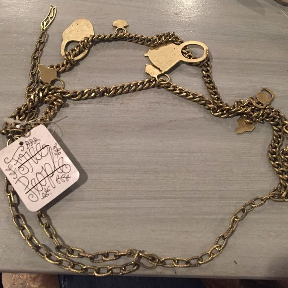 Free people belt Free people bronze belt . New with tags Free People Accessories Belts