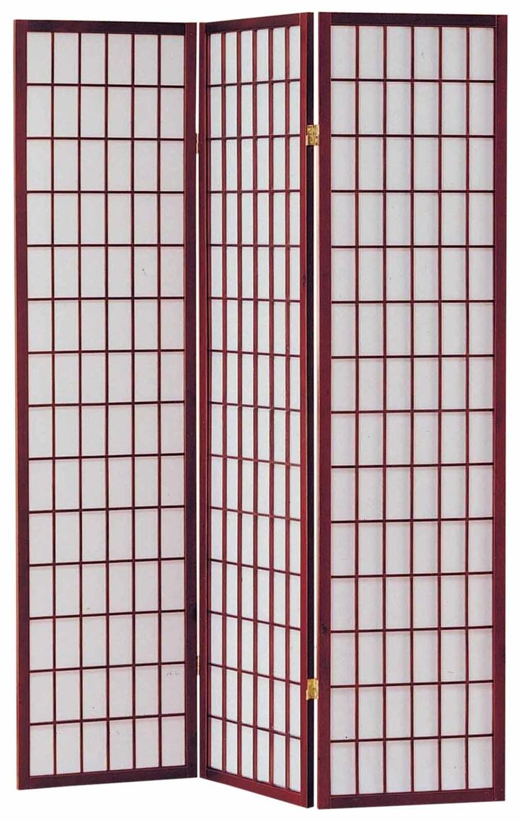 Portable privacy curtains - Sam 70 X 52 3 Panel Room Divider With Rice Paper Paneling